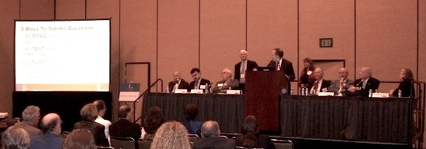 "Panel discussion with all speakers at the ""Globalization of Medical Education"" session at the 2012 AAMC annual meeting"