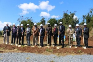 Ground breaking ceremony for a classroom building, UVI School of Medicine. Dr. Ben Sachs, Dean of UVI School of Medicine. Photo by St. Croix Source.